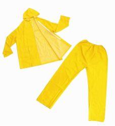 L'usure de la pluie en PVC jaune étanche manteau de pluie