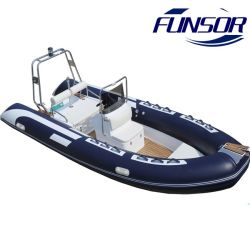 Novo tubo rígido costela inflável com motor de popa da embarcação de pesca e 4.8m Militar
