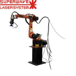 ロボットアーム3Dロボティックアームレーザ溶接機械が付いているレーザ溶接