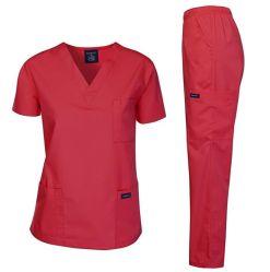 Verpleegster de van uitstekende kwaliteit van de Vrouwen van het Kostuum van de Katoenen Uniformen van het Ziekenhuis schrobt de Medische Uniformen van de Reeksen van Kleren Unisex- Medische