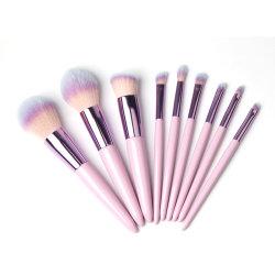 9pcs Soft Poils Synthétiques Pinceaux de maquillage professionnel de jeu de l'outil de dessin