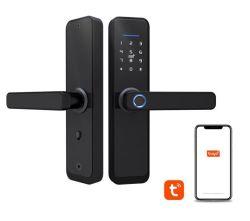 Крепежные детали Tuya дверного замка двери сейф с электронным управлением отпечатков пальцев Mortise комбинации ключа безопасности отель стандарта Канады