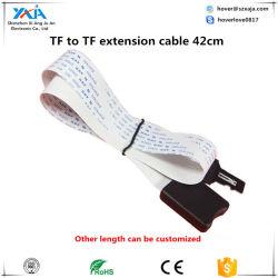 Xaja 42cm TF para tarjeta Micro SD TF Flex Cable de extensión Zip Extensor de la tarjeta de memoria Lector Adaptador de cable GPS de coche vinculador