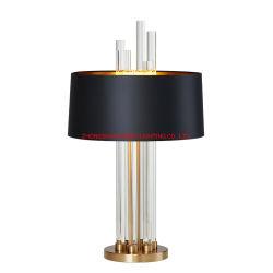 Salle de séjour de luxe de lumière de la personnalité de lampe de table en verre LED de décoration Km5080