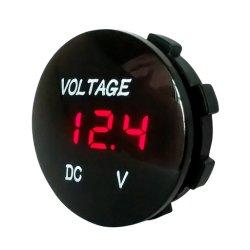 جهاز قياس جهد دورة السيارات العالمية DC5V-48V لوحة LED رقمية الجهد