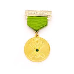 Gold Award bouton insigne militaire de la police Necklace Étiquette Nom en ligne