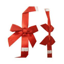 De pre-gemaakte Rode Boog van het Elastiekje van de Gift van het Lint van het Satijn Verpakkende voor Vakje