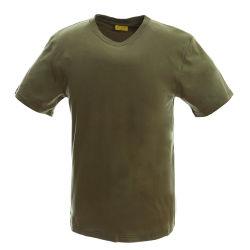 方法100綿は軍隊の緑にTシャツの女性の着せをカスタム設計する