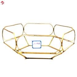 Het gouden Geometrische Geval van de Doos van de Herinnering van Juwelen voor Trinket van /Storage van het Huis de Decoratieve Borst van de Oorring van de Ring