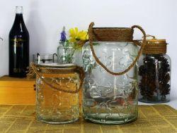 Ménage Bougie en verre coloré de décoration titulaire lanterne de tempête