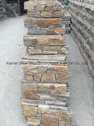 壁の装飾のための自然な錆ついたセメントのスレート文化石