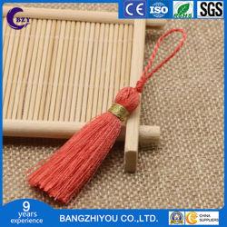 Teléfono móvil colgante Llavero pequeña Borla textil accesorios viento étnicos nudo chino oído colgantes