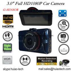 """Новые Full HD1080p Car камера с 3,0"""" цветной TFT экран, G-Sensor, 5.0mega Car камера, 170 градусов угол обзора, ночного видения, ИК светодиод Car DVR-3031"""