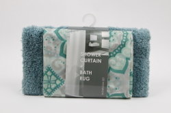 Superior qualidade Alta Corte / Pilha Mem&PEVA cortina do chuveiro+Gancho de plástico
