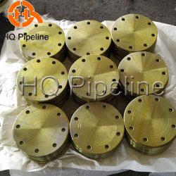 ANSI B16,5, A105 150lb/300lb/600lb Forjados Flanges Cegos de Aço Carbono com pintura amarela
