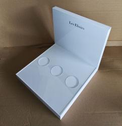 Affiche acrylique blanc fait sur mesure pour les arômes avec logo de marque