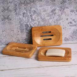 Natürlicher hölzerner Dusche-Seifen-Teller-Dusche-Kasten-Bambushalter