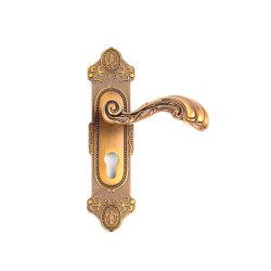 American Style Double côté entrée de la conception antique Long levier de verrouillage de porte de tirer la poignée Lxz1