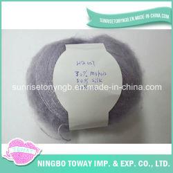 Filato di seta di lavoro a maglia sottile eccellente operato del mohair acrilico di miscela