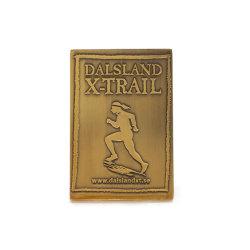 Customized Antique Brass Sport Loja Tag Estrela religiosa do anel tipo moeda