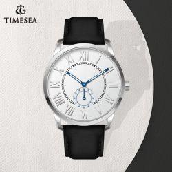 Horloge Mens van Genève van de Manier van het Leer van het merk het Grijze (72769)