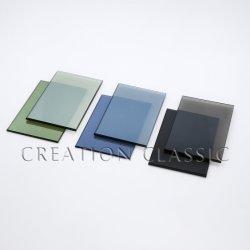 Goldenes dunkelgrünes/graues Weiß-reflektierendes Bronzeglas für Gebäude-Glas