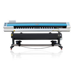Audley 1.8m Digital, die Schreibkopf Eco des Tintenstrahl-VinylflexDx5 zahlungsfähigen Drucker mit doppeltem Kopf 1440dpi bekanntmachen