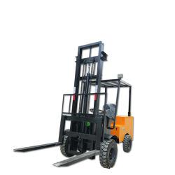 Type de conduite de quatre roues chariot 3m de hauteur de 1 tonne Moteur électrique Chariot élévateur à fourche