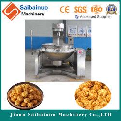 Getreide stieß Nahrungsmittelpopcorn-Imbiss-verdrängenaufbereitende Maschinen-Zeile luft