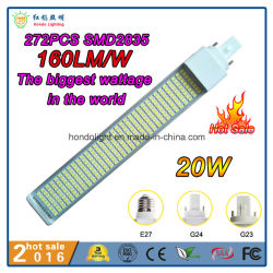 160lm/W G24 PLC bombilla LED 20W con 272PCS Epistar SMD2835