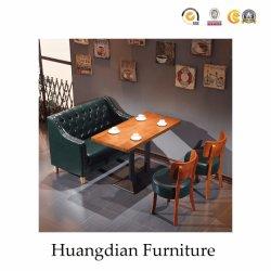 Restaurante personalizado sofá e mesa assentos do estande com Botões (HD656)