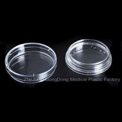 CE y FDA certificada Placa de Petri de plástico 70 * 15mm
