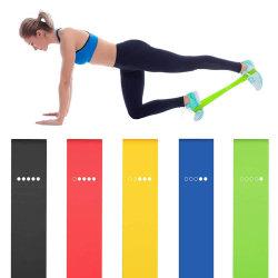 fasce di resistenza di yoga 5PCS che allungano addestramento di gomma di concentrazione di Pilates del corpo di addestramento di concentrazione della strumentazione di forma fisica di esercitazione del ciclo