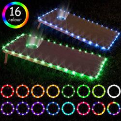 Wasserdichte RGB-farbige mittlere Bohrung LED-String Tube Edge Motiv Licht mit 32key Fernbedienung für Weihnachten Hochzeitsfeiern Zimmer Dekoration