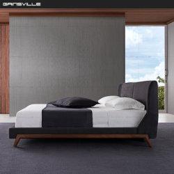 Muebles modernos dormitorios Foshan ajustable de cuero de almacenamiento real de la tablilla de diseño de Una Cama Tamaño King