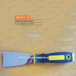 C-18 Opgepoetste Schraper van het Koolstofstaal van het Handvat van de Hulpmiddelen van de Hand van de Hardware van de Verf van de Decoratie van de bouw de Plastic Spiegel