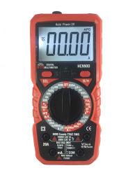 AC 확실한 RMS 측정 배수 용량 100mf 자동적인 범위 몸의 접촉이 없는 전압을%s 가진 0의 방화선 탐지 기능 멀티미터