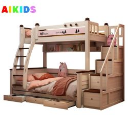 工場価格の供給の固体木製のベッドは美しい王女のベッドの不足分を供給する デリバリータイムキッズダブルデッキベッド子供用ベッドガールズキッズ