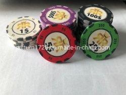 OEM Custom Chip chip de cerámica de póquer Casino Chip para el uso del juego de casino