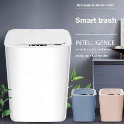 新しいTouchlessのスマートな自動ゴミ箱14リットルのガーベージの不用な大箱の誘導のTrashcanのスマートなセンサーの自動くず入れ