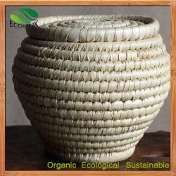 Té de bambú junco Canasta de almacenamiento de cajas de té barril
