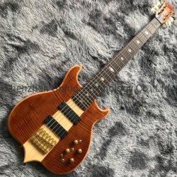 Custom Win rouge à travers le corps de cou en rafale 6 cordes de guitare basse électrique