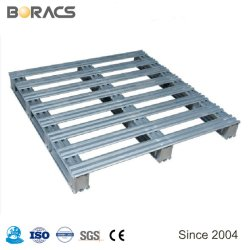 Personalizada para trabajo pesado de 4 vías mayorista Heavy Duty Paleta metálica de acero de hierro para los depósitos