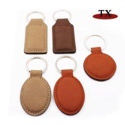 Популярные горячие продажи металлического зажима и кожаных цепочке для ключей