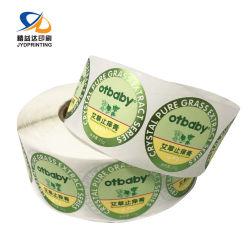 مصنع عالة مرطبان زجاجة اللون الأخضر رقيقة معدنيّة مستحضر تجميل لصوقة لاصق علامة مميّزة