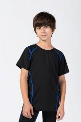 아이 아이들 주문 크기 인쇄 착용이 운동 운동복 옷에 의하여 소매 스포츠 폴리에스테 Tracksuits 적당 요가 t-셔츠 누전한다