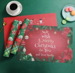 PVC 방수 및 오일 방지 크리스마스 플레이스매트 테이블매트(PvC Waterproof and Oil Proof Christmas Placemat Tablem 테이블