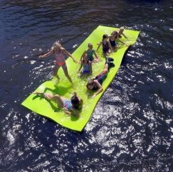 [بست-تودي] يعوم ماء كتلة حصيرة, مع تقدّم وسادة تصميم, [بوونسي] [تر-رسستنت] [3-لر] [إكسب] زبد, [رولّ-وب] يعوم جزيرة لأنّ [بوول] بحيرة محيط زورق
