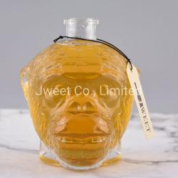 Cabeza de animal de corcho en forma de beber vino de vidrio 750ml botella