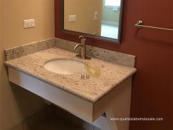 Chinês Rio polido de granito branco Tile/laje de Bancada/banheiro vaidade Top/cozinha/sala de TV na parede